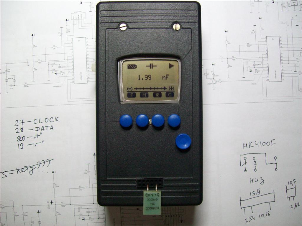 LC-meter. pic18f2520 & LCD 3310.  На выходных сделал себе игрушку - LC-метр на PIC-е, с LCD дисплеем от мобильного...